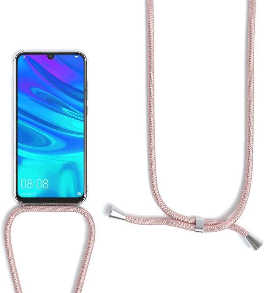 Ultra Mince Souple TPU Housse avec Cordon Or Rose Transparente Silicone Coque pour Xiaomi Redmi Note 8 360 Degr/és Antichoc /Étui avec Collier pour t/él/éphone Portable