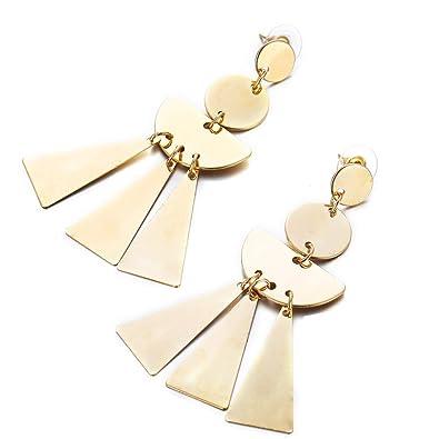 Triangular Shaped Drop Earring for Pierced Ears Stainless Steel UK