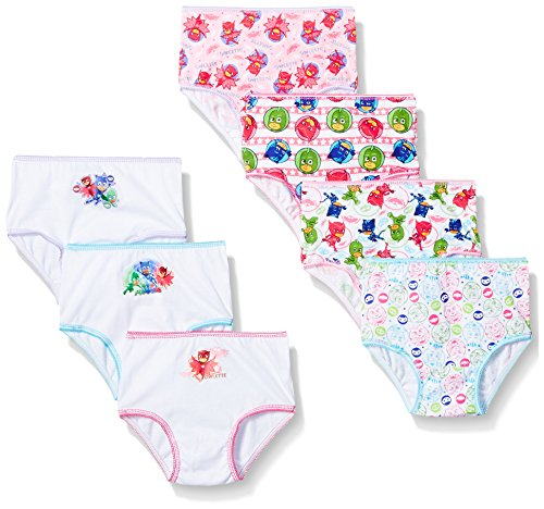 PJ Masks Girls 7-Pack Brief Bikini Panty Toddler Underwear, TGIRL-Multi, 2T/3T