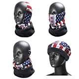 WEANAS 5 in 1 Multifunction Fleece Neck Gaiters Hood Snood Scarf Beanie Neck Warmer Hat Face Mask for Cycling Skingi Skateboarding Helmet