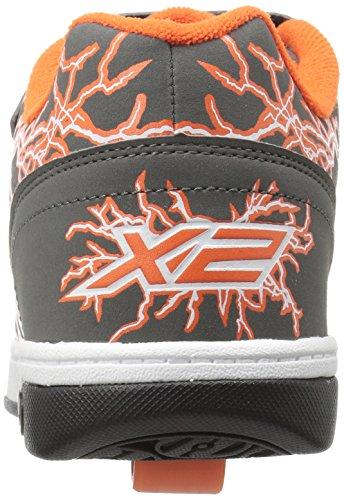 Heelys Dual Up - deportivas bajas Niños Gris (Charcoal / Orange / Electricity)