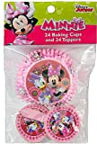 Disney Minnie Mouse and Daisy Duck Cupcake baking cups and toppers (set of 24)