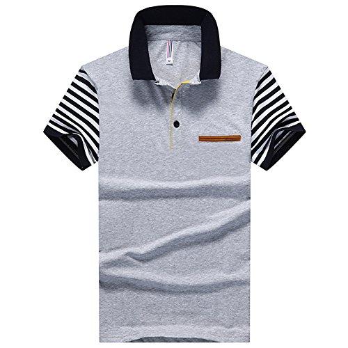 ポロシャツ メンズ 紳士 半袖 ゴルフウェア 立ち襟 夏物 大きいサイズ ビジネス 細身 ギフト カットソー