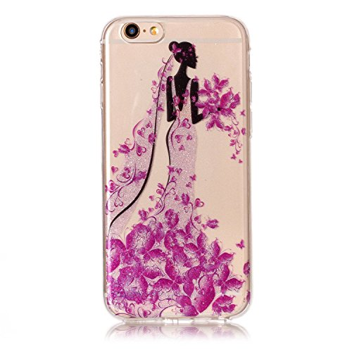 Custodia iPhone 6 / 6S , LH Principessa TPU Trasparente Silicone Cristallo Morbido Case Cover Custodie per Apple iPhone 6 / 6S 4.7