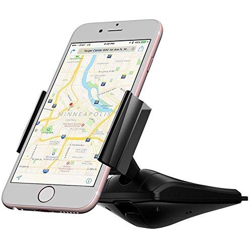 Car Phone Mount, iVoler Universal CD Slot Phone Car Mount Holder, for Cell Phones iPhone 7 6 6S Plus 5S 5C Samsung Galaxy S6 S7 S8 Edge Note 2 3 4 5 LG G3 G4 G5 G6 All Smartphones -