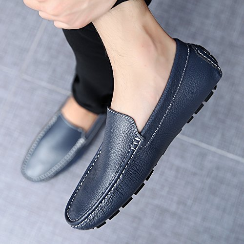 Abby 9668 Mens Slip On Occasioni Nuovi Mocassini Flessibili Driving Shoes Navy
