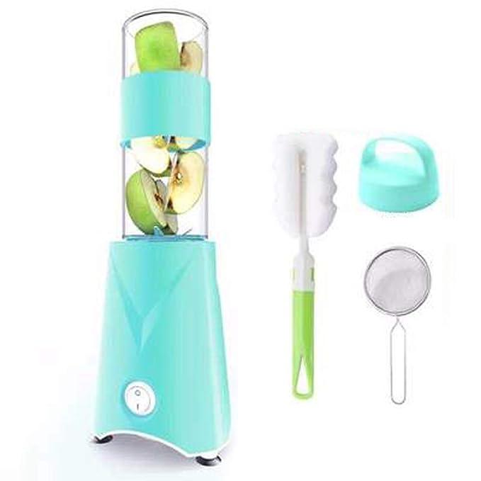 WGFGXQ Portable Juicer, Home Fruit Blender - Six-Blade Blade. Suitable Fitness, Outdoor, Students, Etc,Blue,Singlecup