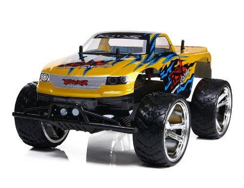 Amazing Tech Depot 1/10 Electric RTR Off-Road Big Wheel Monster Remote Control Truck, 18-Inch