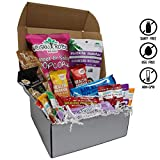 Vegan Holiday Assorted Snack Box- Rich Chocolates, Peppermint Bark, Smoky Jerky, Sweet & Salty Popcorn, Rosemary Parmesan Crackers, Chia Bars, and more! 100% VEGAN AND NON-GMO! - VeganWorks - (15 ct.)