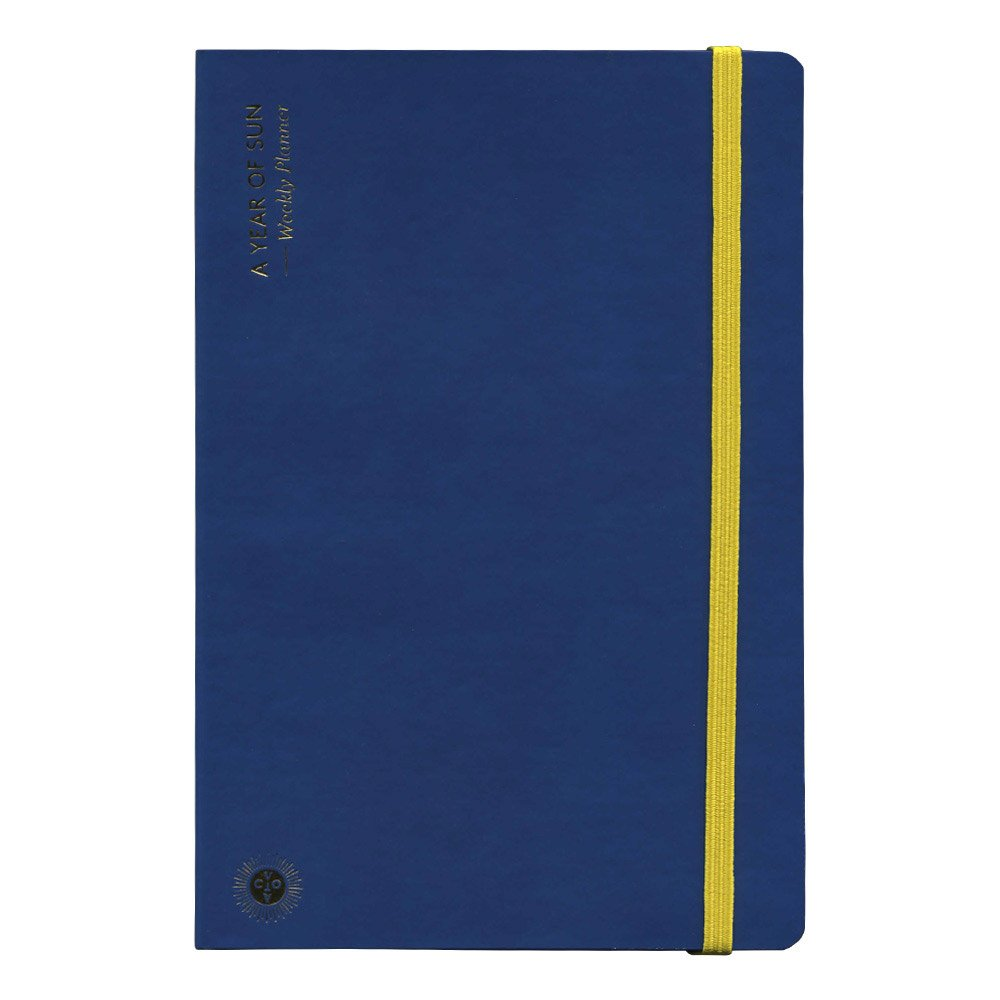 Octaevo A Year of Sun Weekly Planner - Blue by Octaevo