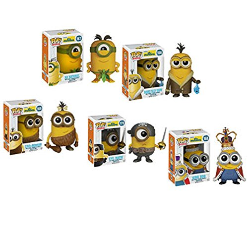 Funko Minions Movie Bored Silly Kevin, Eye Matie, Au Naturel, Cro-Minion and King Bob Pop! Vinyl Figures Set of 5
