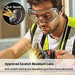 SAFEYEAR Lunettes de Protection Lunettes de Port pour porteurs de Lunettes - SG007 avec Protection latérale et Branches… 8