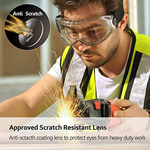 SAFEYEAR Lunettes de Protection Lunettes de Port pour porteurs de Lunettes - SG007 avec Protection latérale et Branches… 3