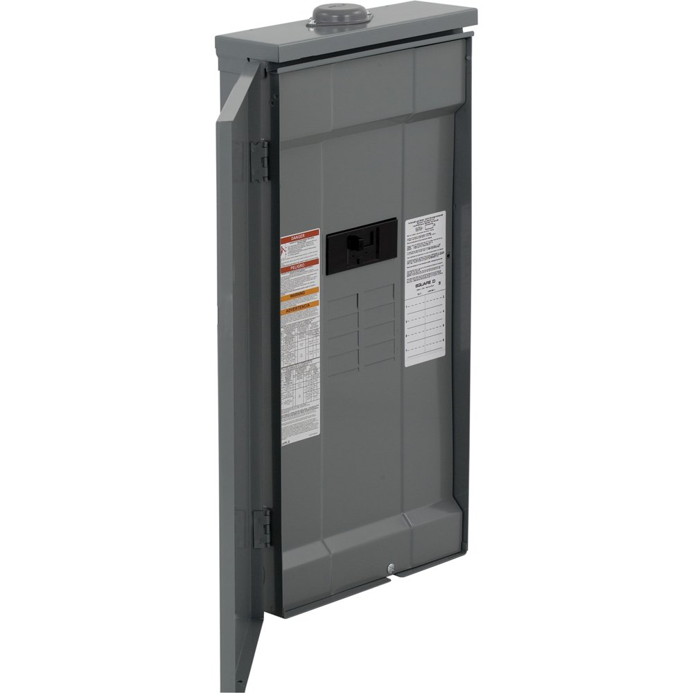 Square D by Schneider Electric HOM816M200PFTRB Square D Convertible Mains (Breaker) Load Center, 120/240 Vac, 200 A, 1 Phases, 22000 Air Interrupt