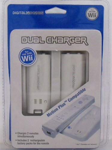 Digital Gadgets Dual Charger For Wii Motion Plus Compatible with Two Battery Packs by Digital Gadgets