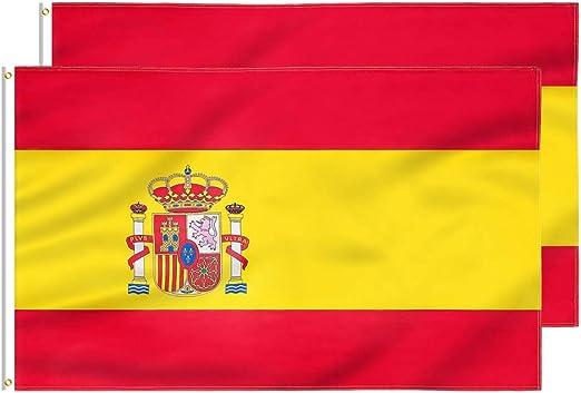 FLAGBURG Bandera de España de 3x5 pies 2 Packs, Bandera Española ...