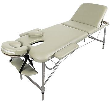 Table De Massage Alu Seulement 11kg Pliante Confort Beaucoup D Accessoires 3z Creme Jaune