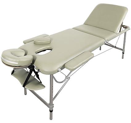 Table De Massage Alu Seulement 11kg Pliante Confort Beaucoup Daccessoires 3z Creme Jaune