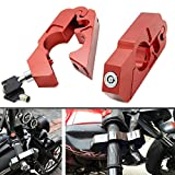 Lisyline CNC Motorcycle Handlebar Grip Brake Lever Lock Anit Theft Security Caps-Lock