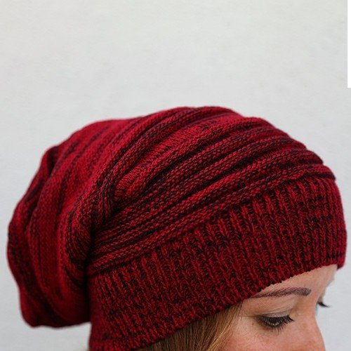 ef73e3329cd0dc TreasuresByFamily Slouch Knit Beanie - Red at Amazon Women's ...