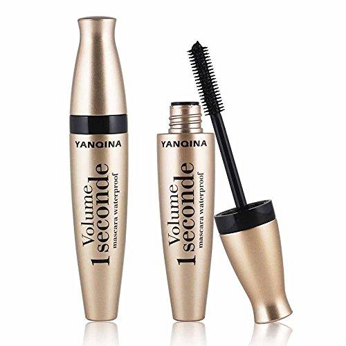 Makeup Mascara,Freesa Golden Tube Mascara 3D Fiber Mascara Long Black Lash Eyelash Extension Waterproof Eye Makeup Extension Tool