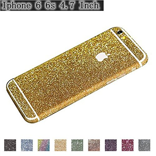 Iphone 6 Skin Sticker Gold iPhone 6/6S (4.7 Inch) - Glittering Skin, Gravydeals® Bling Glitter Full Body Protector Film Sticker Decals Cover Wrap for Apple iPhone 6/6S 4.7 - Hard Medium Green Dark