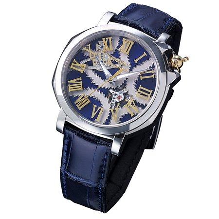 ヴィヴィアンウエストウッド 腕時計 Vivienn Westwood スクイグル メンズ 自動巻 SWISS MADE SQUIGGLE Mウォッチ 自動巻 ネイビー VWS0502-62N-L【並行輸入品】 B077QSMDLT