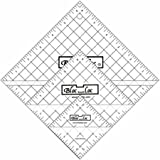Bloc Loc~Half Square Triangle Ruler Set #5-4.5''5.5'',6.5'', Acrylic Ruler