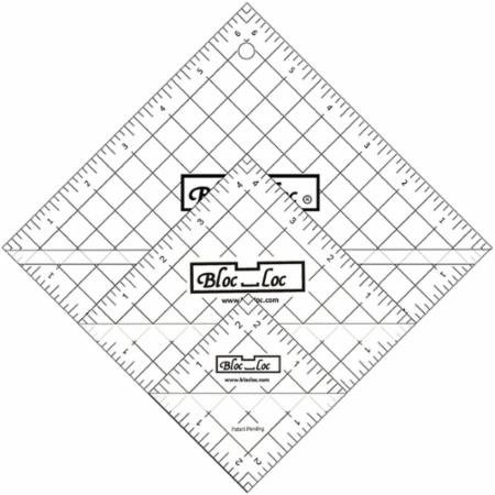 Bloc Loc~Half Square Triangle Ruler Set #5-4.5