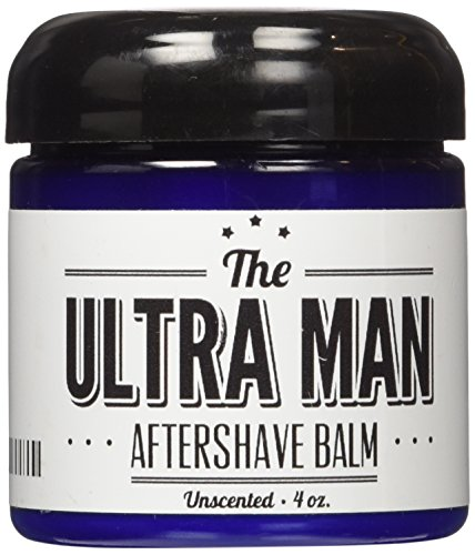 The Ultra Man AfterShave Balm (Unscented) - Post Shave Moisturizing Balm/ Lotion - Prevents Razor Burn and Dry Skin