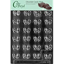 Cybrtrayd M082 Bite Size Bows Chocolate Candy Mold with Exclusive Copyrighted Molding Instructions