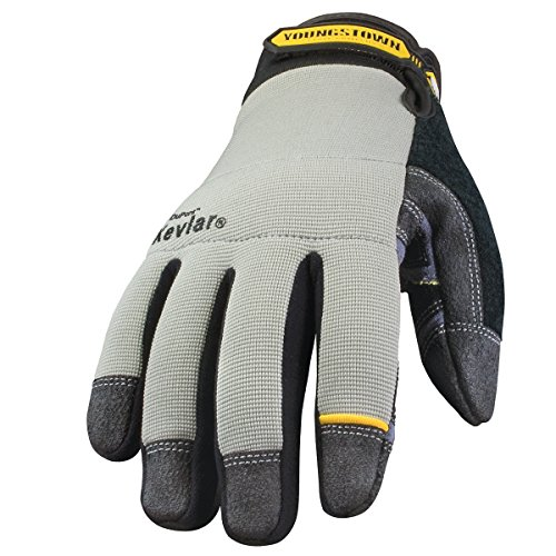 (Youngstown Glove 05-3080-70-L General Utility Lined with KEVLAR Glove Large, Gray)