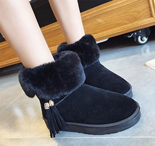 Nieve Botas Gruesa Informal Cortas Zapatos Botines Moda Calor De Además Deporte Black Invierno Suela Para Terciopelo Mujer Meili tCwUqxpYB