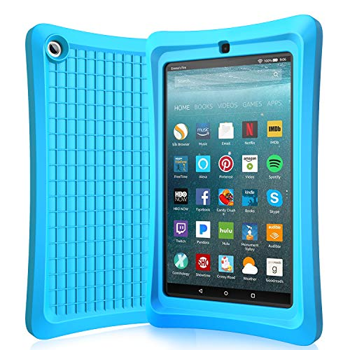 Benazcap Case for All-New Tablet 7 Inch 2019 - Lightweight Shockproof Anti Slip Soft TPU Case Protective Kids Cover for 2019 Tablet 7 Inch 9th Gen, Babyblue