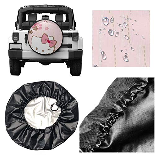 Spare Tire Cover Smile Hello Kitty Universal Waterproof Dust-Proof Wheel Covers