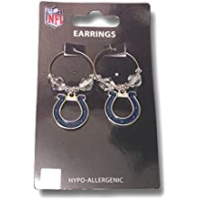 NFL Licensed Clear Bead Hoop Dangle Earrings