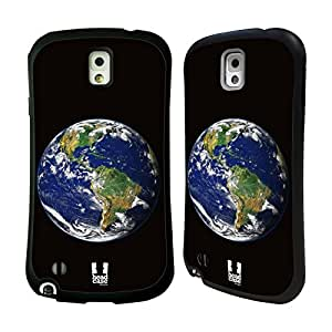 Head Case Designs Earth Outer Space Hybrid Gel Back Case for Samsung Galaxy Note 3 N9000 N9002 N9005