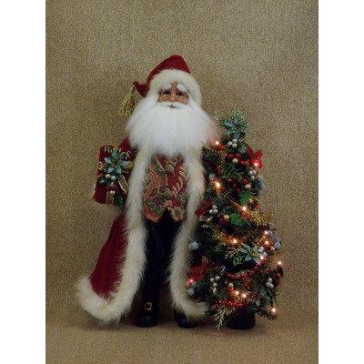 Crakewood Lighted Santa Claus Figurine with Tree