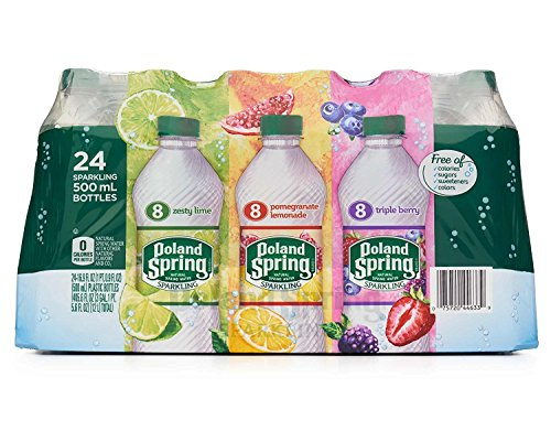 Poland Spring Sparkling Water 24 Count, 16.9 fl - Water Flavor Spring