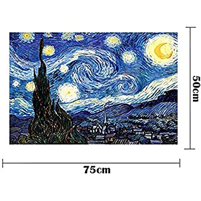 Starry Night by Vincent Van Gogh Jigsaw Puzzle 1000 Piece Puzzles for Adults Large Size Toy Games Educational Gift Jigsaw Puzzle 1000 PCS Home Decor: Toys & Games