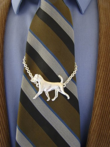 (Large Sterling Silver Jack Russell Terrier Moving Study Tie Chain)