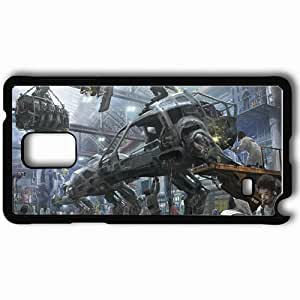 Personalized Samsung Note 4 Cell phone Case/Cover Skin Art Hangar Robot People Metal Black