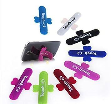 50 piezas Mini soporte del teléfono Touch-u Simple silicona ...