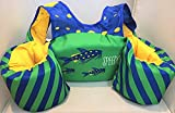 Speedo Safe Splasher Coast Guard Approved Swim Vest - 30 to 50 lbs. - Green/Fish