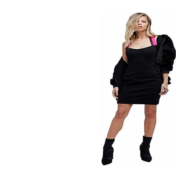 Versace Jeans Vestido Negro Ajustado con Tira Fucsia (S): Amazon.es: Ropa y accesorios