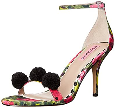 Betsey Johnson Womens Lylly Open Toe Ankle Strap D-orsay Pumps, Green, Size 5