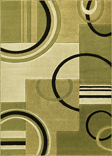 Well Woven 600158 Green Galaxy Waves Modern Abstract Arcs and Shapes 9'3