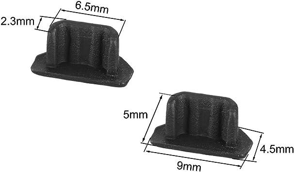 5 Unidades Sourcingmap Transparente Tap/ón de Silicona para Mini USB