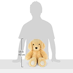Vermont Teddy Bear Stuffed Puppy - Oh So Soft Puppy Dog Stuffed Animal, Brown, 18 inch (Color: Dog)