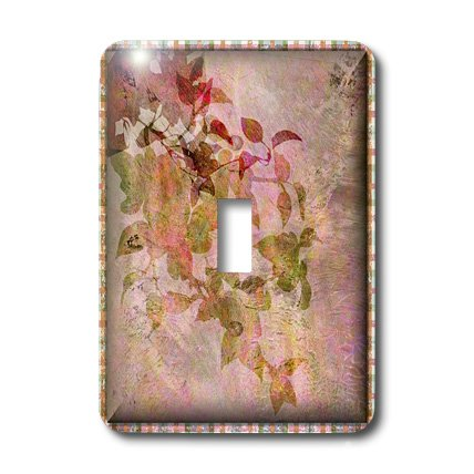 3dRose lsp_36588_1 Vintage  Florals Single Toggle Switch, Pink - Floral Single Toggle